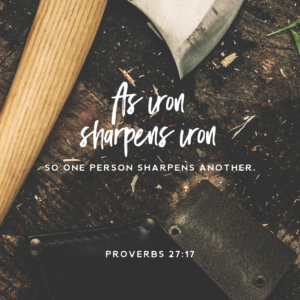 As iron sharpens iron. Being around giving people will help with your selfishness.