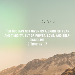 God Will Help You Face Your Fears