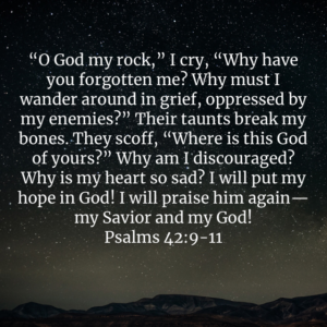 David was angry with God.  He cried out to Him.